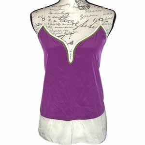 👗👖Willow & Clay Bright Purple Olive Ivory Cami